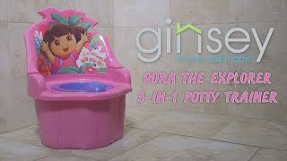 Ginsey Nickelodeon Dora the Explorer 3-in-1 Potty Trainer