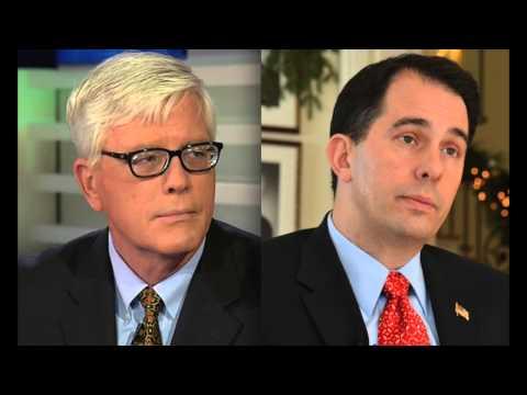 Scott Walker tips his hat to Major Garrett for akaing Obama tough questions