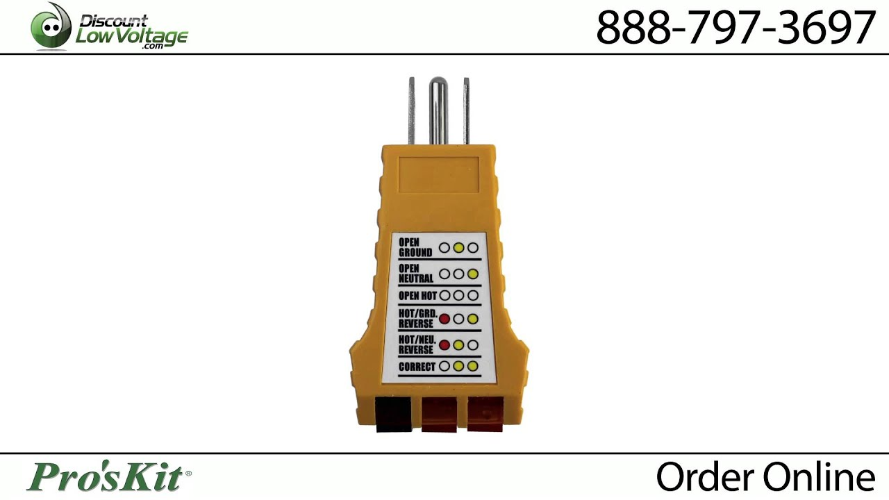 Electrical Outlet Tester Sold At Discount Low Voltagecom Youtube Voltage Testers Online