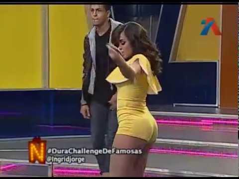 Ingrid Jorge bailando Dura en Aqui se habla español