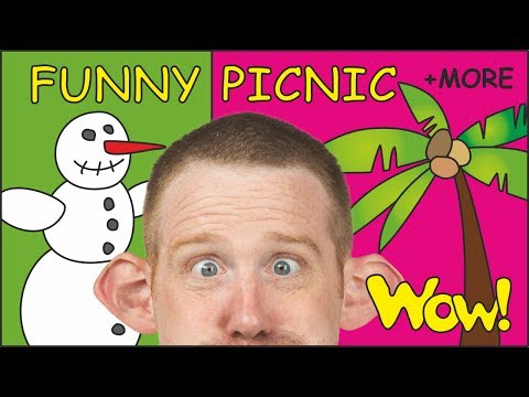 Funny Picnic for Kids + MORE Magic Stories with Steve and Maggie for Children | Learn Wow English TV