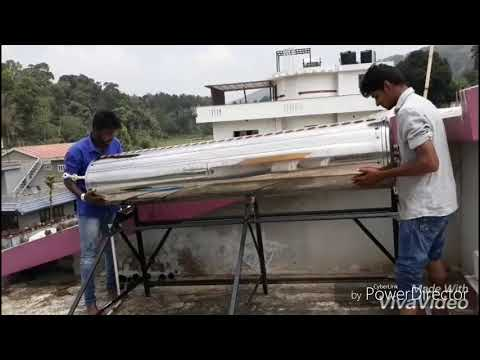 Servicing of solar water heater (chemical wash)