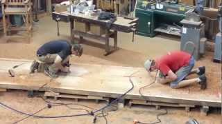 Live Edge Redwood Table - Routing Out The Base