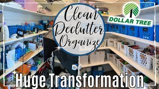 ULTIMATE DECLUTTER ORGANIZE & SPEED CLEAN WITH ME 2019 | LINEN CLOSET DOLLAR TREE ORGANIZATION IDEAS