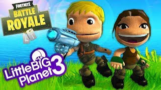 LittleBigPlanet 3 - Fortnite Battle Royale Costumes and Battle Royale Mode (Fan Made) - PS4 Gameplay