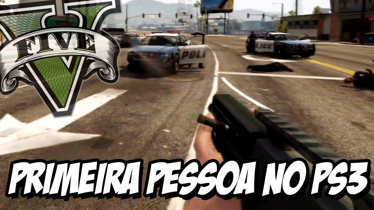GTA V – Primeira Pessoa no Playstation 3 com MOD