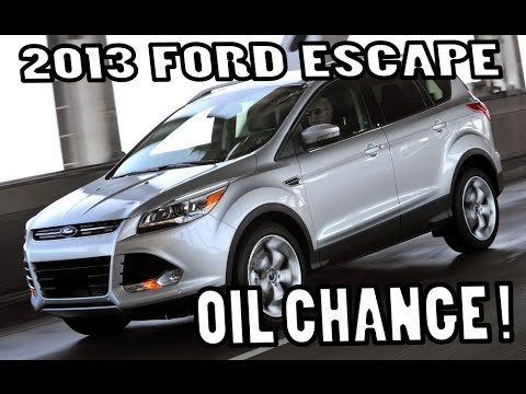 Ford Escape S 2 5l Oil Change 2017 Simple Best How To