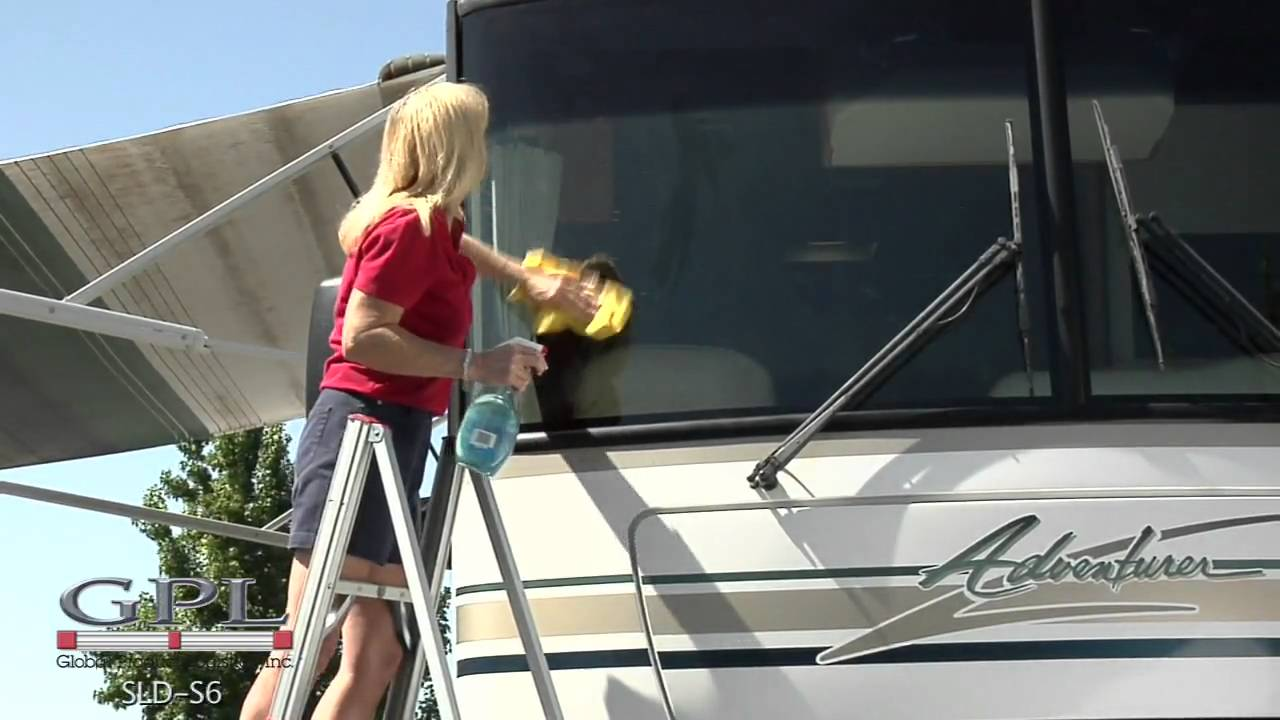 RV 6 Ft. Single Sided Compact Folding Ladder - YouTube
