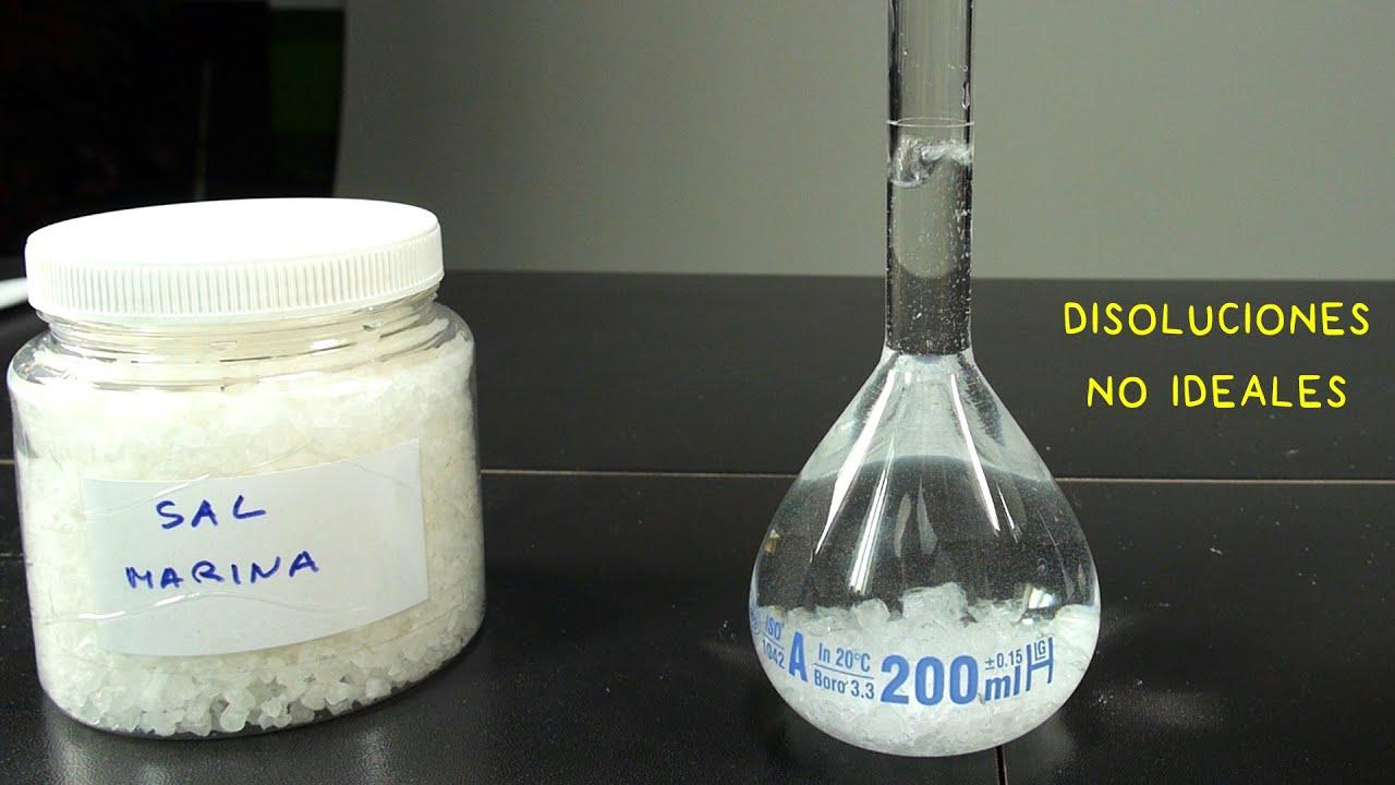 Disolución y Volumen no Aditivo.