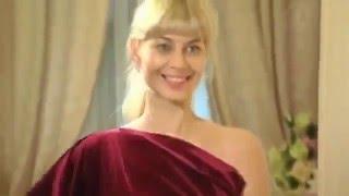 Новогоднее платье из бархата от Ольги Никишичевой