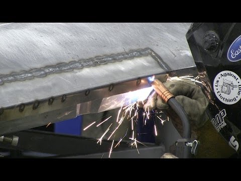 How To Repair Door Panel - Patch Panel Installation Using Mini TIG Torch - Eastwood