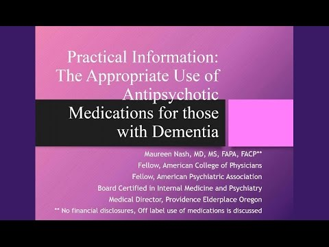 When Anti-Psychotic Medications are Appropriate