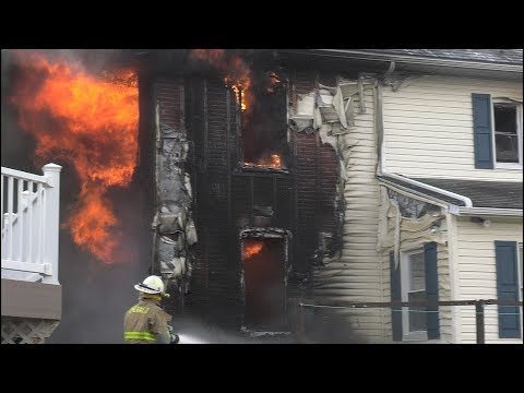 Arrival Video:  Firefighters Battle This Fully Involved House Fire