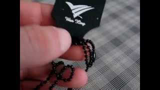 Fashion Punk Style Black Wolf Head Pendant Necklace