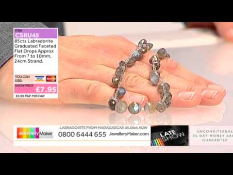 Peach Moonstone on The Late Show with Ed McKay (JewelleryMaker) LIVE 31/10/2014