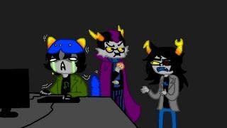 Repeat youtube video Eridan & Vriska make Nepeta play Nightmare House 2