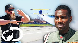 The Diesel Brothers Find A Pilot That Might Take Part In Their Crazy Stunt | Diesel Brothers