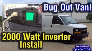 vuclip 2000 Watt Inverter Install in Van | Bug Out Van Build