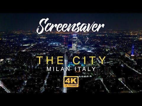 Milan Italy | 4K Relaxing Screensaver | Aerial Drone Footage