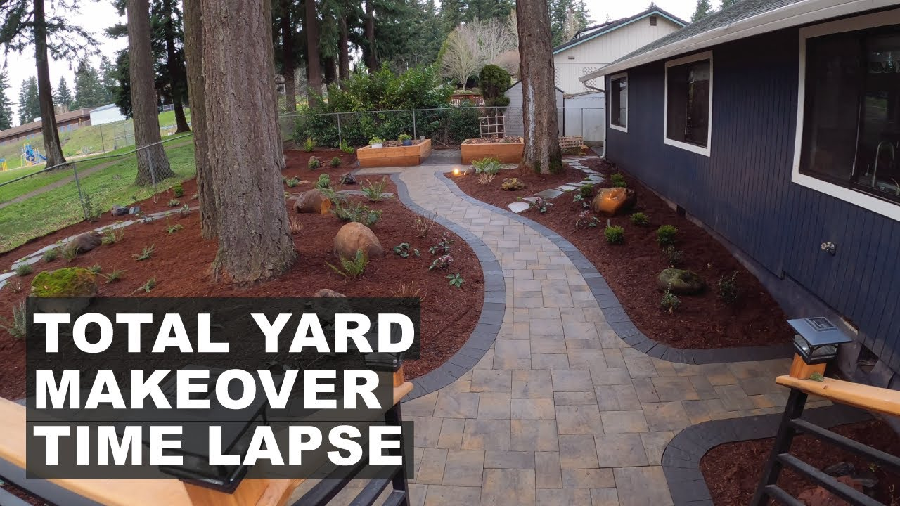 Total Yard Makeover Time Lapse