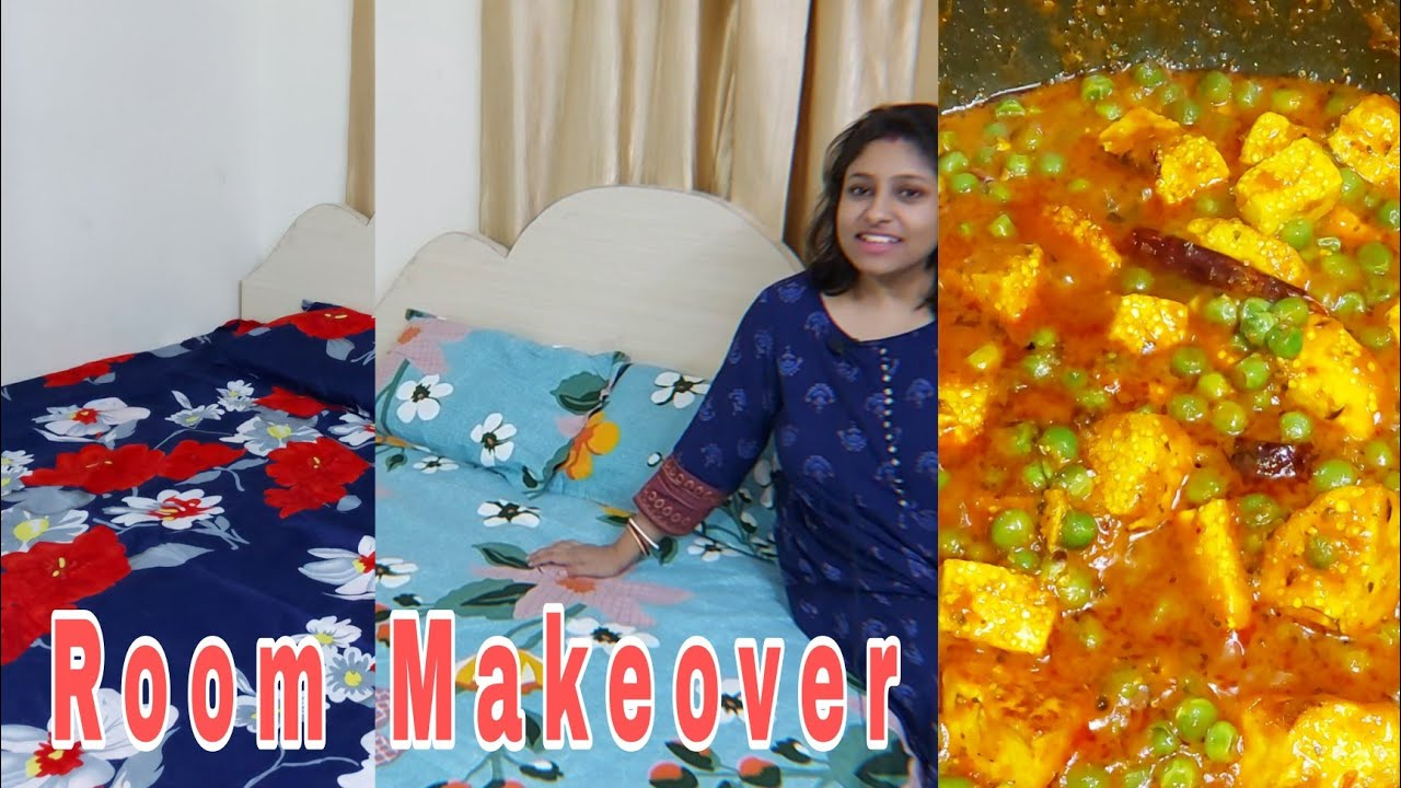 Bengali Vlog# Room Makeover  Dinner Matar Paneer বানালাম  Bengali Vlogger Poulami  Shopping Haul2021