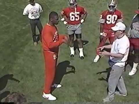 Martial Arts training at the 49ers camp 1990