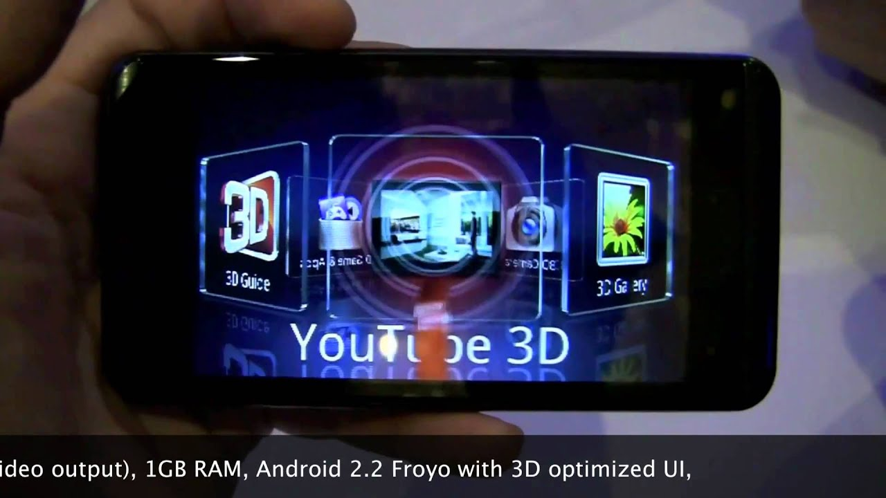 Hands-on AT&T LG Thrill 4G (Optimus 3D) - 3D stereoscopic camera demo at  CTIA 2011