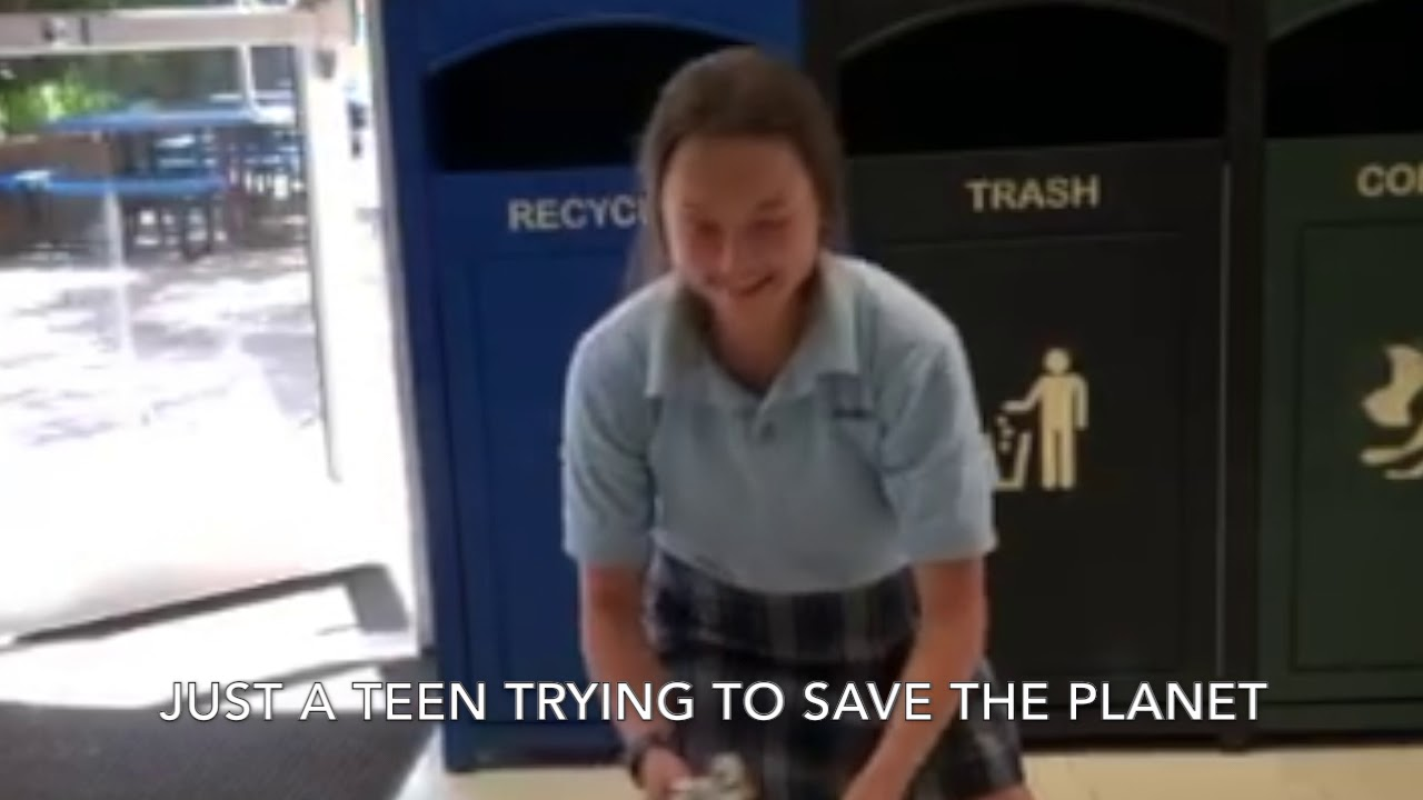 Idea can teen tries to be trashy all business