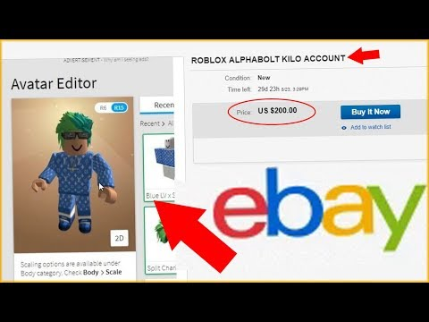 Someone Is Selling My Roblox Account On Ebay Youtube