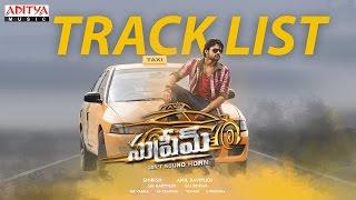 Supreme Track list Video II Sai Dharam Tej, Rashi  Khanna II Sai Kartheek