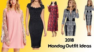 2018 Monday Outfit & Dress Ideas || Latest Coming Out Designer