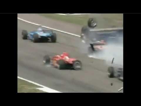 F1 Luciano Burti And Michael Schumacher Crash Germany 2001