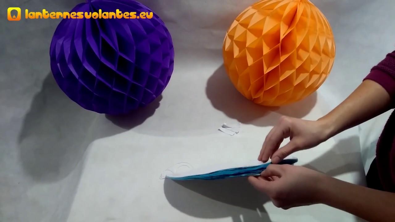 Comment Faire Des Boules En Papier boules alvéolés / honeycombs - mode d´emploi