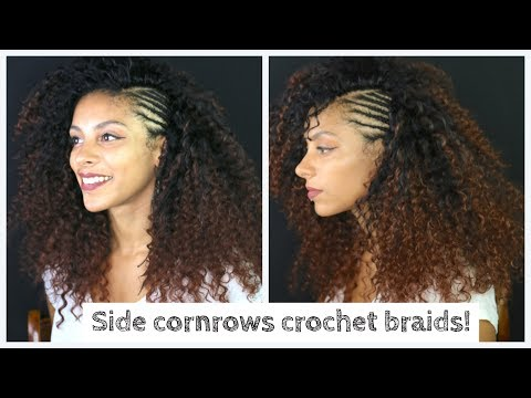 Side Cornrows And Knotless Curly Crochet Ids Absolutely No Leave Out Ll Ft Trendy Tresse