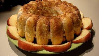 ВОЗДУШНАЯ ШАРЛОТКА с ПЕРСИКАМИ( вкусный десерт без выпечки)