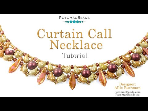 Curtain Call Necklace (Tutorial) - DIY