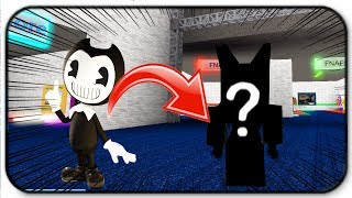Creating And Becoming Bendy The Ink Demon - Roblox Animatronic World
