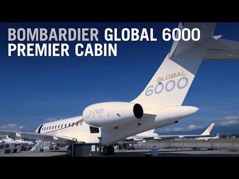 Bombardier Global 6000 Premier Cabin Business Jet Design Tour – AINtv