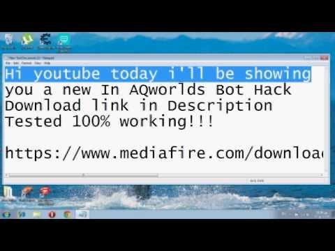AQworlds new bot hack 2014