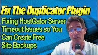 How to Fix Duplicator Timeout Issues at HostGator