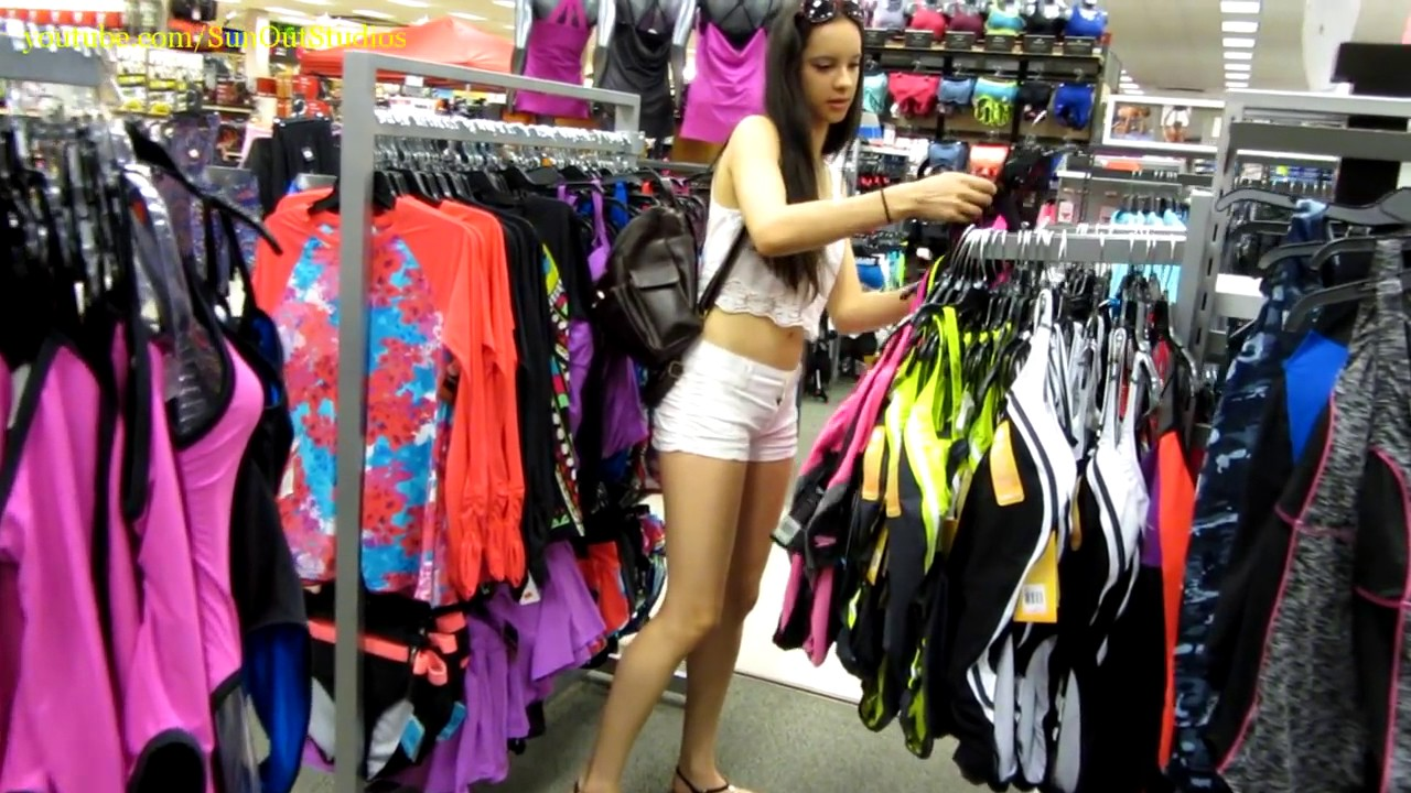 Girl teen shorts candid amusing