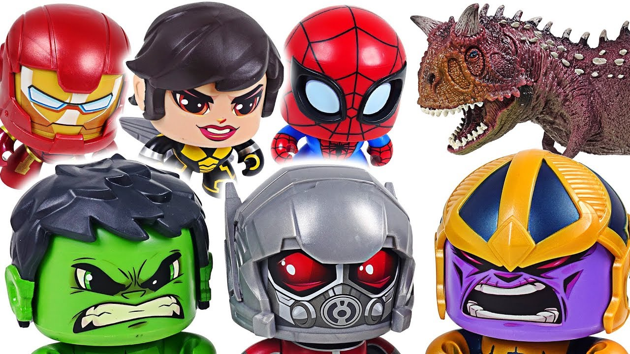 Thanos, dinosaurs appeared! Marvel Avengers Ant-Man, Wasp, Hulk, Spider Man! Go! - DuDuPopTOY