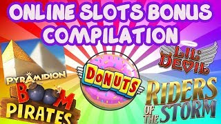 Online slots bonus compilation - Donuts, Riders of the Storm, Boom Pirates + More
