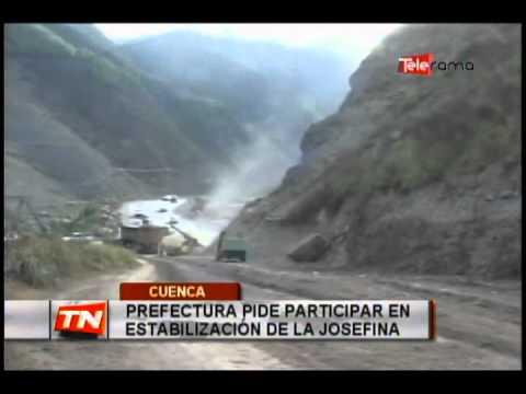 Prefectura Pide Participar en Estabilización de la Josefina