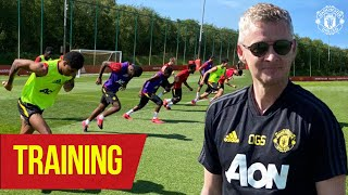 Training | Ole shows he's still got it as United return to contact training 😎 | Manchester United