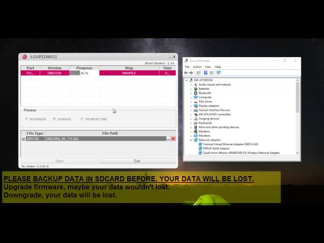 GUIDE-VDO] Flashing KDZ/TOT firmware by LG… | LG G2