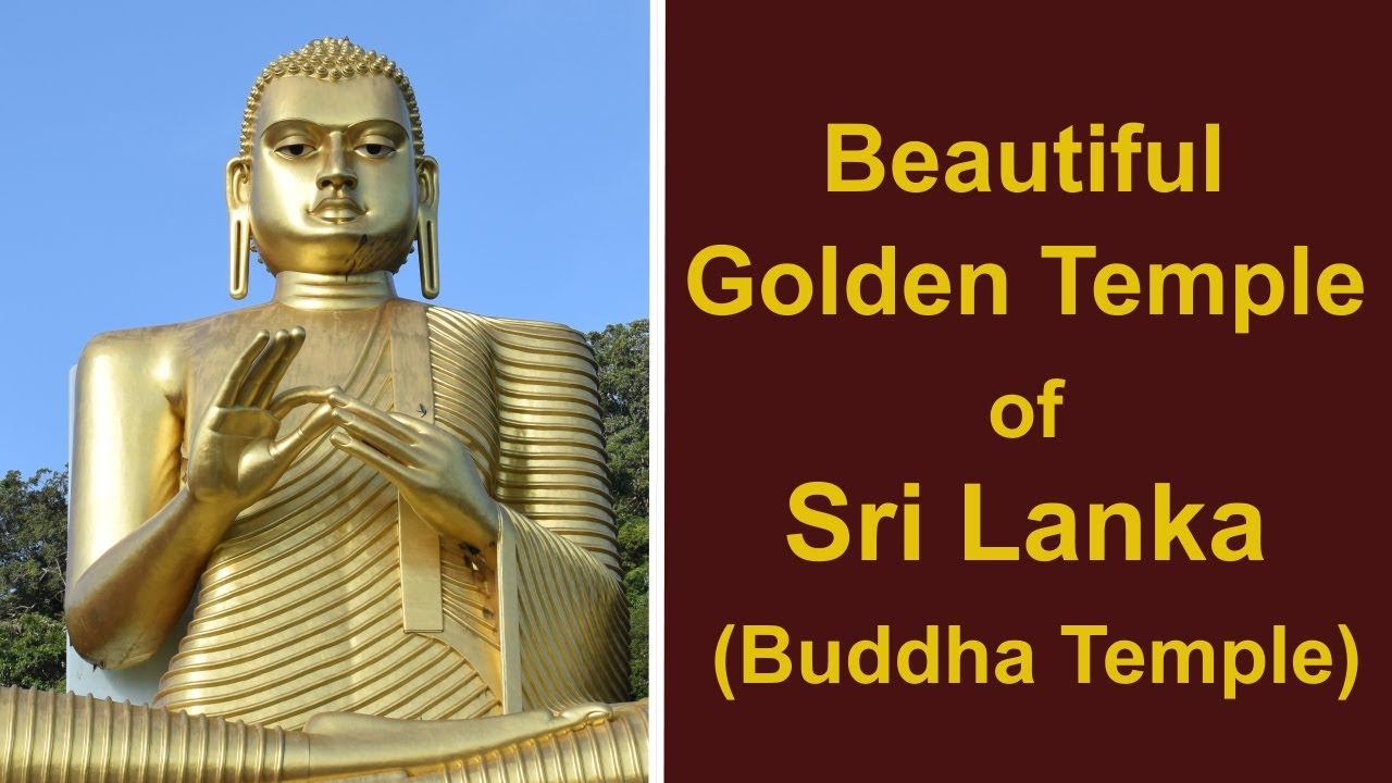 Beautiful Golden Temple of Sri Lanka (Buddha Temple)