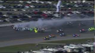 2012 Talladega Last 2 Laps of Race Stewart Flip Crash