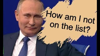 From youtube.com: Putin laughs off 'Kremlin List' {MID-241517}