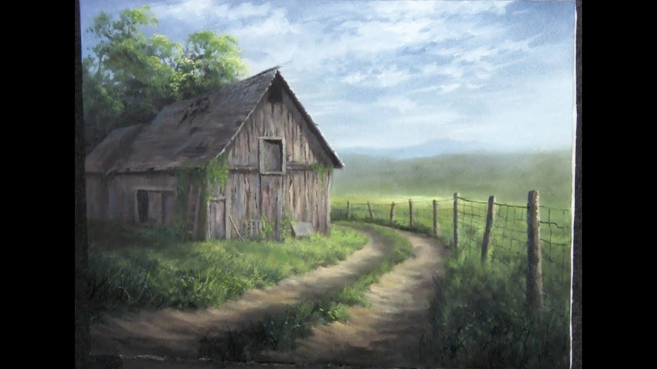 Barn By The Road Paint With Kevin Hill Landscape In